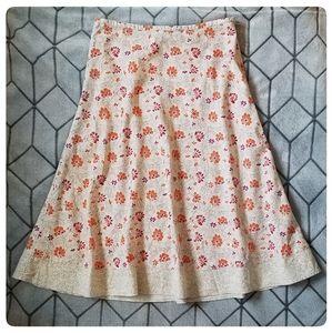 2/$20 Eddie Bauer Floral Linen Skirt